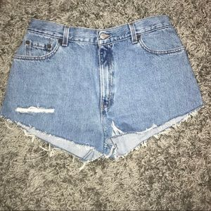 Levi's 550 denim cutoff shorts